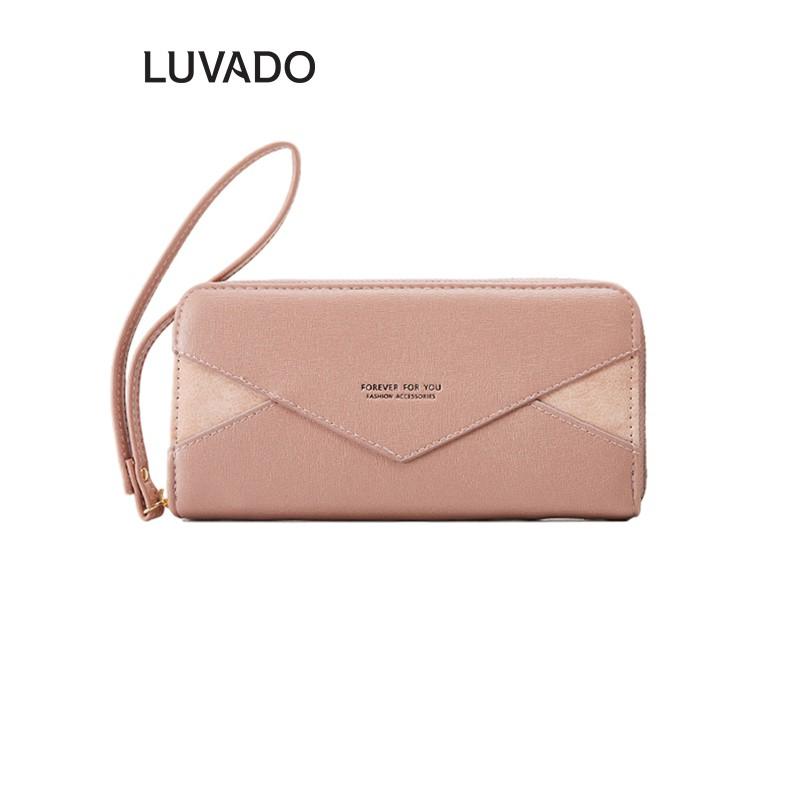 Ví nữ cao cấp cầm tay FOREVER FOR YOU thời trang nhiều ngăn LUVADO VD303