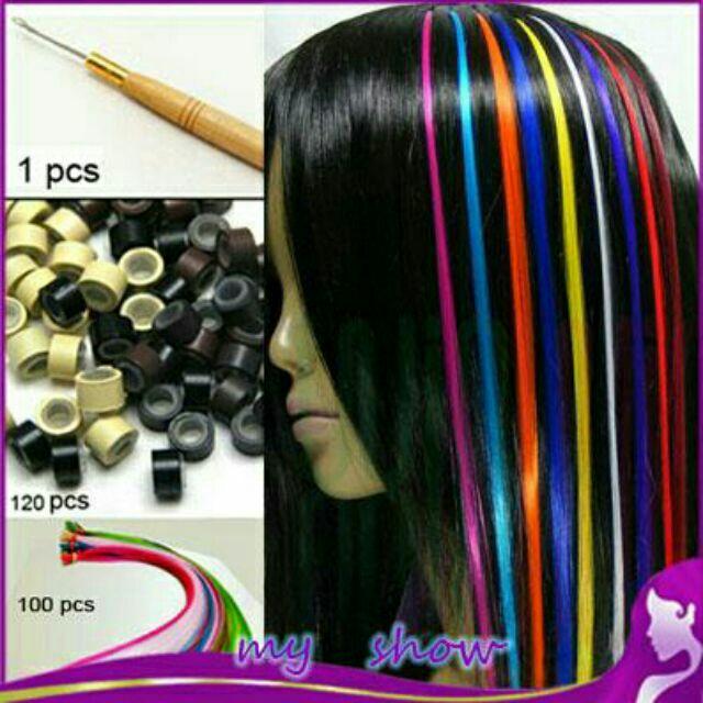 sỉ 10 line tóc nối màu ngẫu nhiên