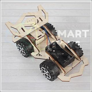 [STEM] Đồ chơi lắp ghép – Ô tô mô hình bằng gỗ có động cơ