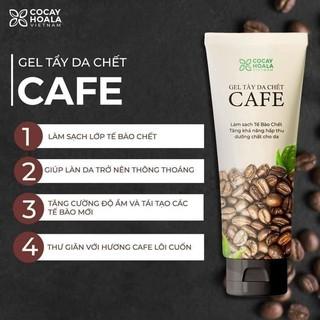 Gel tẩy da chết cà phê Cỏ Cây Hoa Lá 100g. Giúp nhẹ nhàng lấy đi lớp da chết mà không gây bào mòn da và khô da. thumbnail