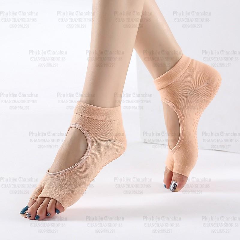 Vớ tập Yoga nữ - vớ chống trượt (Mẫu 3, hở ngón) 35k / đôi