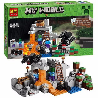 Bộ Xếp Hình MineCraft My World 10174/18016 – Hang động bóng tối 251 pcs