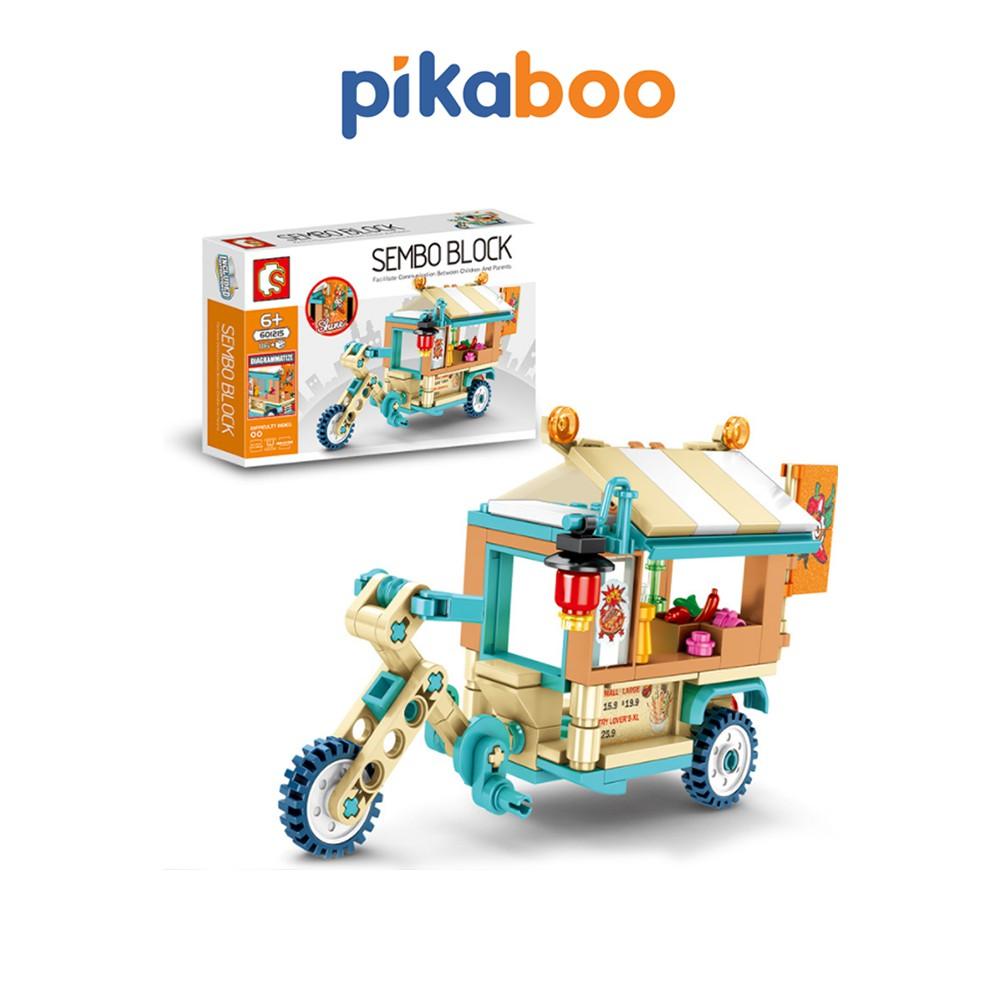 Đồ chơi lắp ráp Pikaboo mô hình ô tô bán đồ ăn đường phố chất liệu nhựa bền bóng và an toàn
