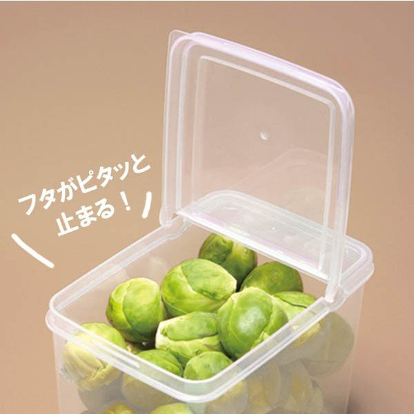 Hộp đựng thực phẩm SANADA Nhật Bản nắp mở đứng 1.1L, 1.7L, 2.6L nhựa PP cao cấp, an toàn cho sức khỏe