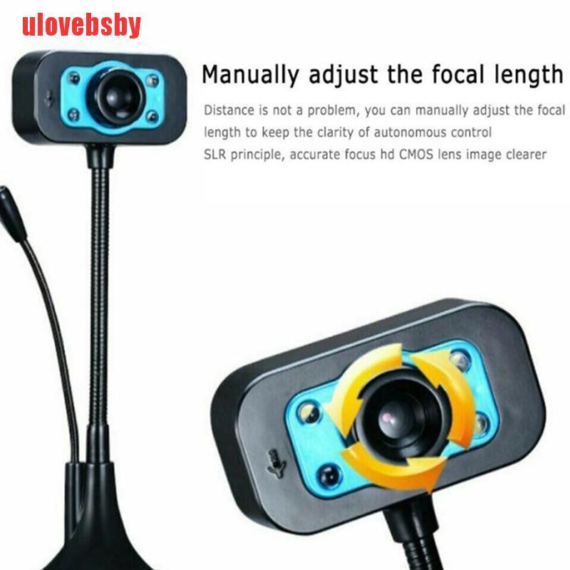 Webcam Usb 2.0 Hd Kèm Mic Cho Máy Tính