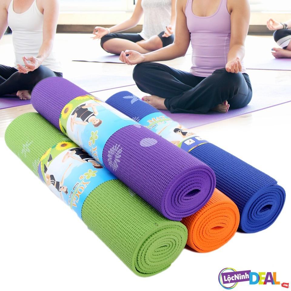 Thảm tập yoga - không túi đeo dày 0,3cm