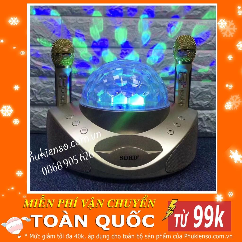 Loa hát karaoke bluetooth SDRD SD-308 ,3.5 inch ,10W, 2 mic ( Ảnh thật - có video)