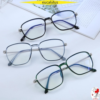 🌸EUTUS🌸 Retro Blue Light Blocking Glasses Square Frame Safety Goggles Office Computer Goggles Vision Care Anti Eyestrain Unisex Eyewear Radiation Protection Gaming Eyeglasses