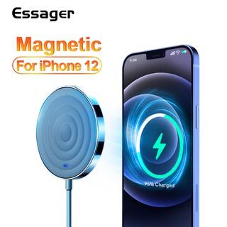 Đế sạc không dây từ tính Essager QI tốc độ nhanh cho iPhone 12 11 Pro Max Mini Xs X Xr