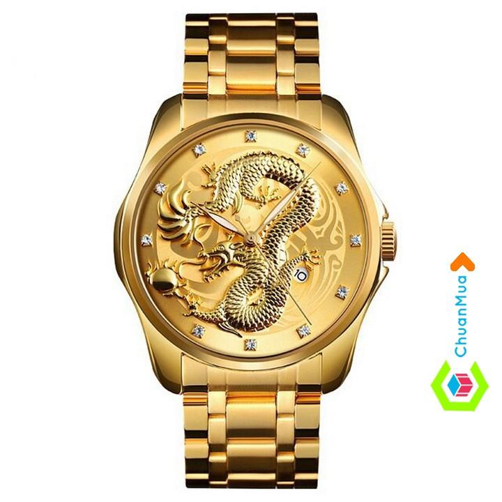 Đồng Hồ Nam Mặt Rồng Phong Thủy SKMEI 9193 - DHA728