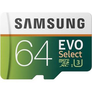 Thẻ nhớ Samsung Evo Select 64GB 100MB / s (U3) MicroSDXC kèm phụ kiện kết nối MB-ME64GA / AM