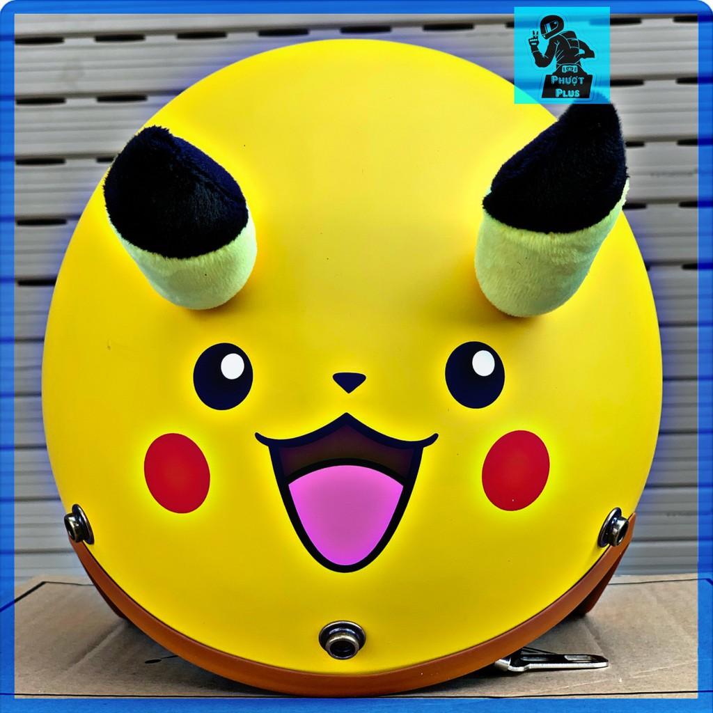 Mũ bảo hiểm 3/4 Pikachu Cao Cấp