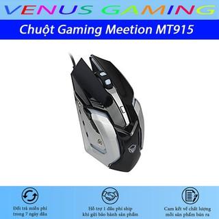 Chuột Gaming Meetion MT915 - Đèn led cực đẹp - Màu đen và trắng - Thiết kế bá cháy - Độ bền 50 triệu click - BH 12 tháng thumbnail