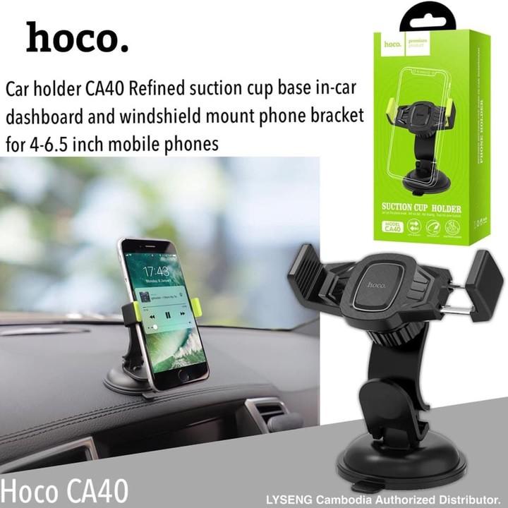 Giá đỡ điện thoại trên taplo, kính lái ô tô nhãn hiệu Hoco CA40 - Hàng chính hãng