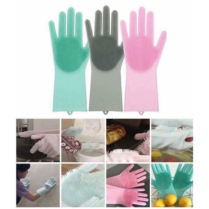 (SS)_Găng tay rửa bát silicon thần thánh (1 đôi) (GIÁ SỈ) ( GIÁ SIÊU RẺ )