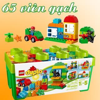 LEGO DUPLO 10572 Thùng Gạch Xanh Vui Nhộn (65 Mảnh Ghép) – Đồ Chơi Xếp Hình LEGO Chính Hãng Đan Mạch