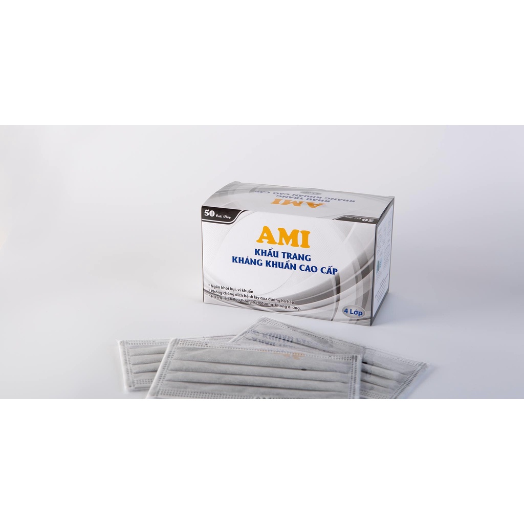 Khẩu trang Y tế Ami 4 lớp dày dặng khẩu trang y tế