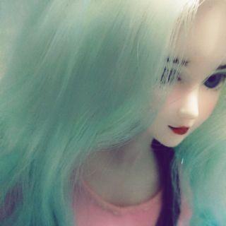 Búp bê xinyi faceup tóc xanh