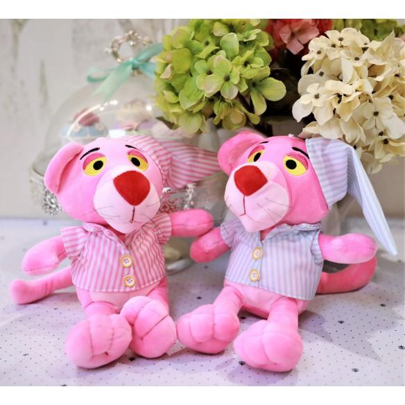 Báo hồng bông pink pather mặc áo ngủ G3B2 gấu bông 30 cm