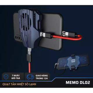 [Quạt Tản Nhiệt ] - Tản nhiệt điện thoại MEMO DL02 Giảm nhiệt khi chơi game kèm sạc TYPE C + Lightning cho điện thoại thumbnail