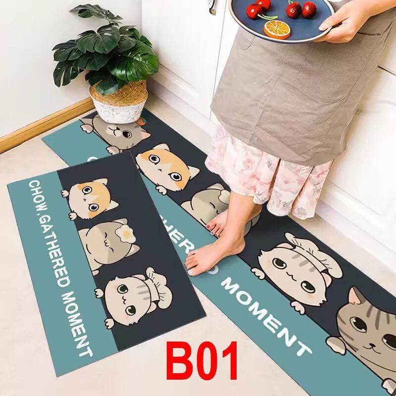 [BỘ 2 THẢM] Thảm bếp, thảm nhà tắm chống trượt cao cấp 2 kích thước nhiều mẫu