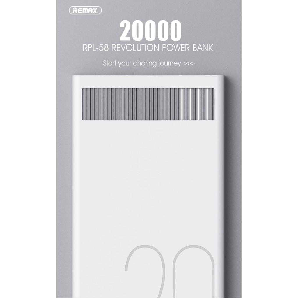 Sạc dự phòng Remax Revolution RPL-58 20000mah Power Bank