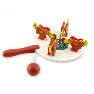 Color Chicken Pecking Rice, Bamboo Toy, Thread Control Toy Thread Control Doll