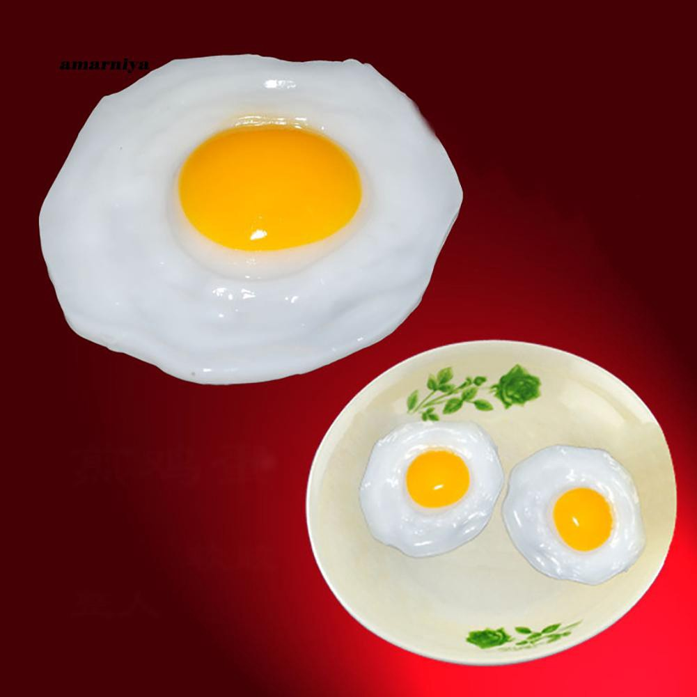 AMA♥Fried Egg Food Simulation Children Play Toy Anti Stress Anxiety Relief Car Decor