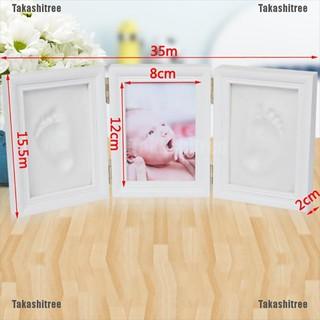 Takashitree✐❥ Baby 3D Handprint Footprint Format Set Image Frame Memory