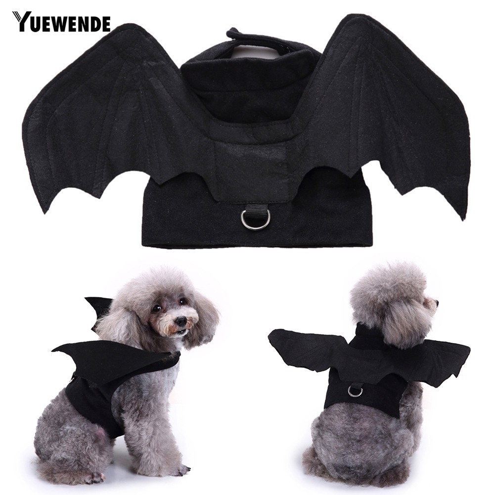 YUE Halloween Pet Dog Puppy Bat Shape Clothes Soft Cosplay Costume Vest Apparel