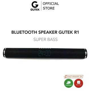 Loa bluetooth không dây siêu bass công suất lớn kiêm đồng hồ để bàn Gutek R1