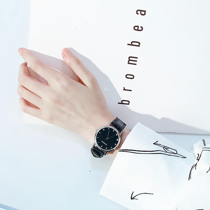 (giá sỉ) đồng hồ thời trang nam nữ cặp Candycat dây da cá CD77