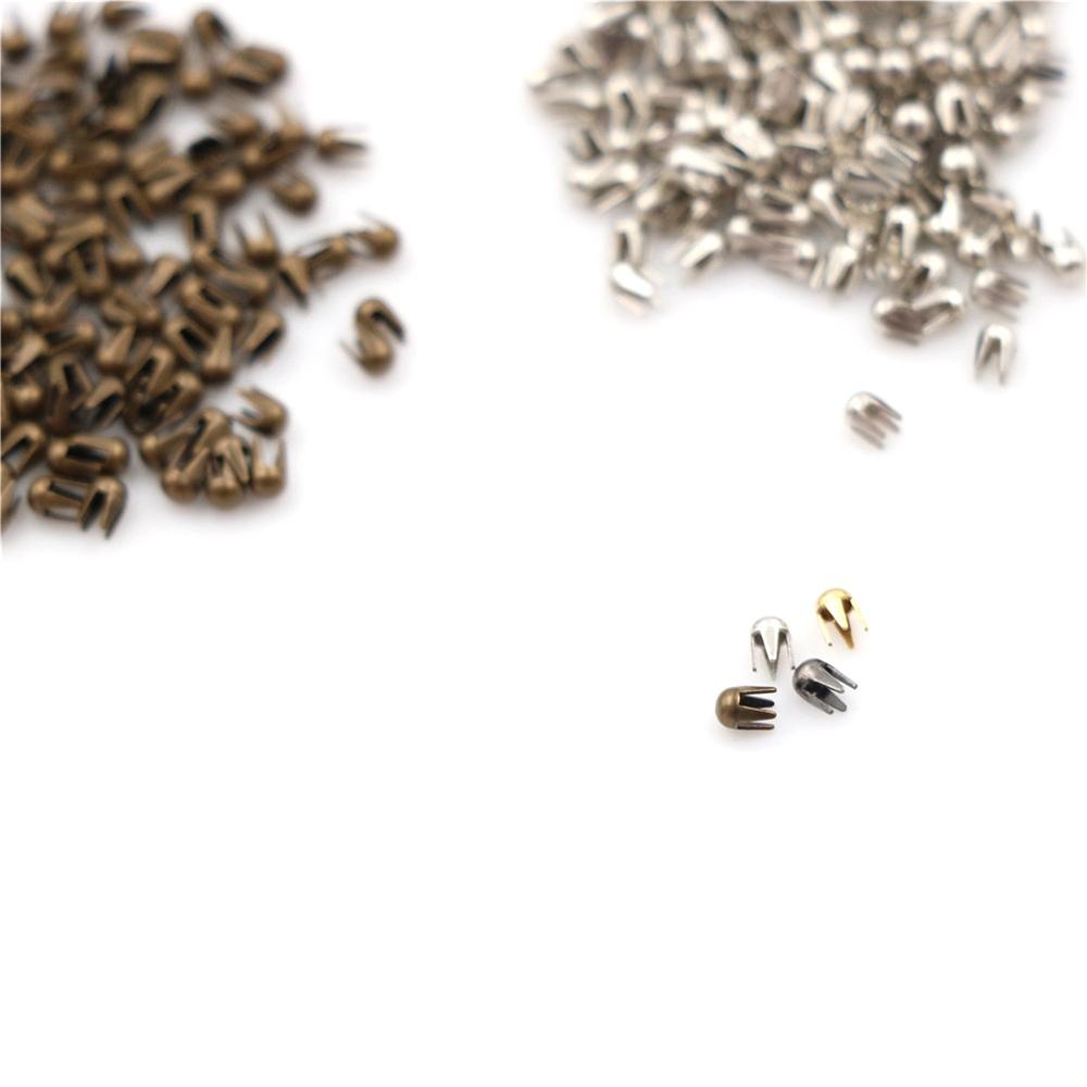 L1 100pcs Super Small Mini Toys Metal Round Bead Buckle