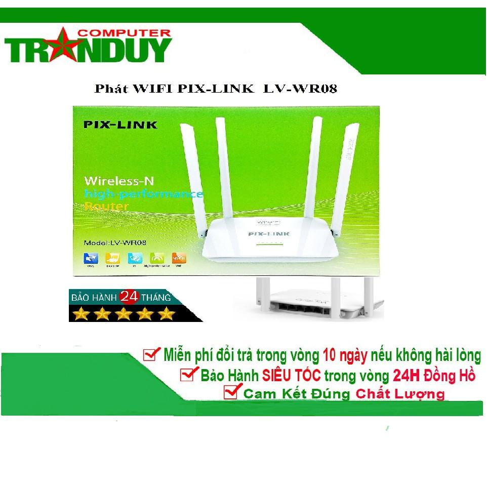 Bộ Phát Wifi PIX-LINK LV-WR08 – Router 4 Ăng Ten Chuẩn N Không Dây Tốc Độ 300Mbp