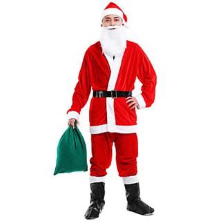 Bộ quần áo Ông già Noel vải nhung – 7 chi tiết