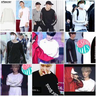 áo phông BTS SUGA, j-hope, Jimin, GOT7 JB, Jackson, EXO Xiumin