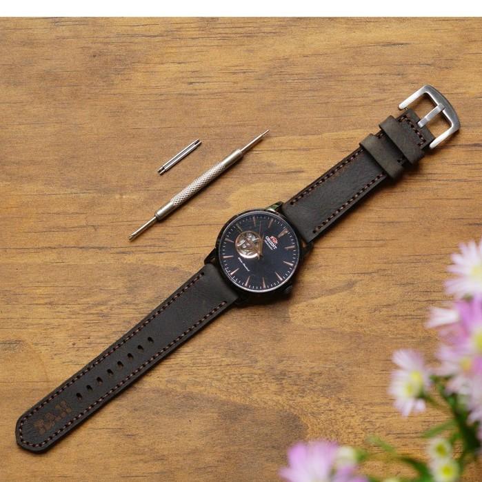 Dây đồng hồ da bò sáp handmade cao cấp RAM Leather  1953 - tặng khóa chốt và cây thay dây