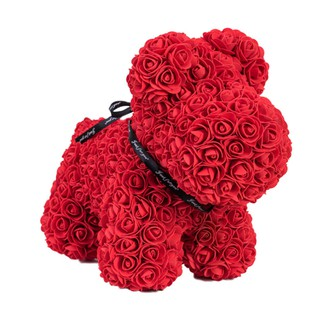 Romantic Artificial Rose Dog Toy with Box for Lovers
