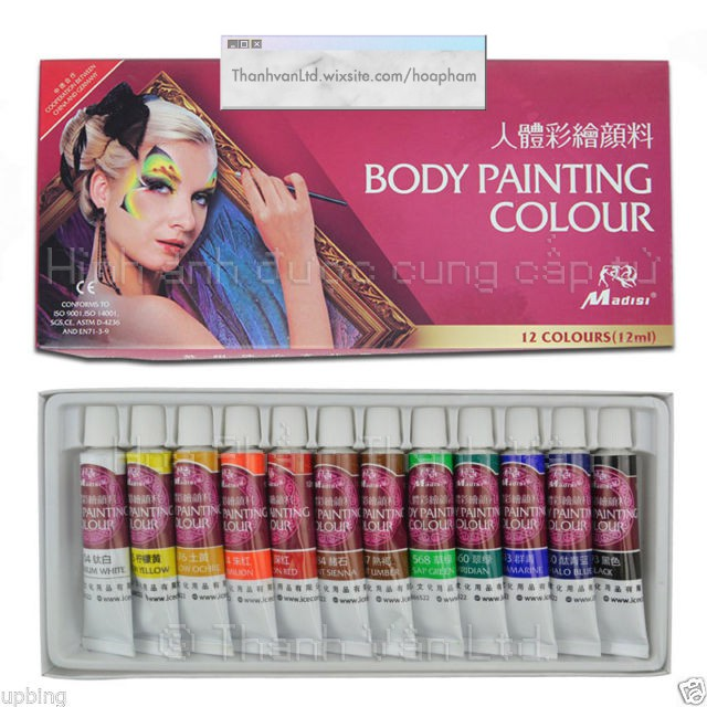 Màu dầu vẽ mặt hay cơ thể Madisi - Oil Body Painting or Face Paint