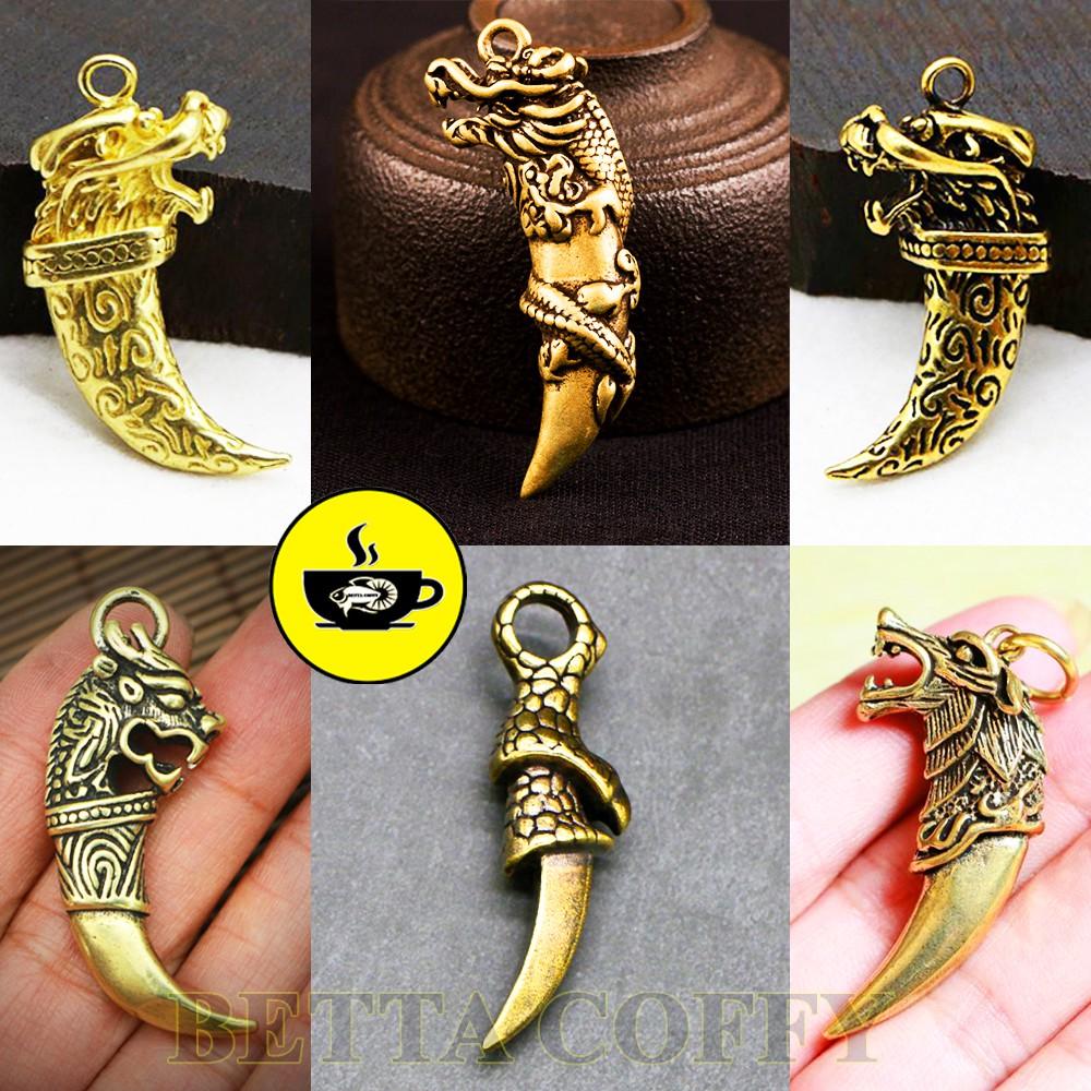 Tượng Đồng - Sói Rồng - Mặt dây chuyền móc khóa cực ngầu cho nam