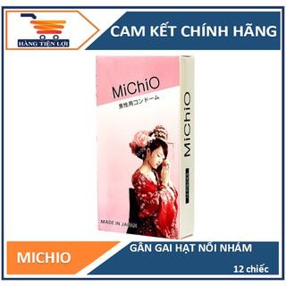 Bao cao su Michio gân gai nhám nhẹ 12 pcs - Chính hãng Nhật 100% thumbnail