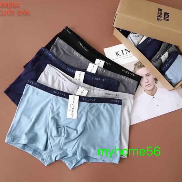Hộp 5 quần Sịp đùi xuất Nhật loại đẹp 100% cotton.