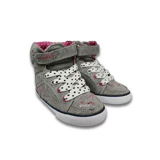 Giày Sneaker Cổ Cao Bé Gái D&A BG1306 Màu Ghi thumbnail