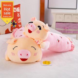 Búp bê đuôi lợn dễ thương dài dải gối đồ chơi búp bê sang trọng búp bê gối ngủ lớn cô gái