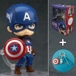 [Tặng móc khóa Captain] Mô hình Nhân Vật Siêu Anh Hùng Captain America #618 ( FullBox)
