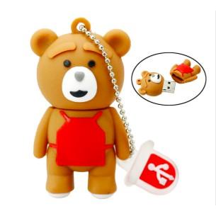 Phim hoạt hình gấu nâu bé Pendrive 4GB 8GB 16GB 32GB Ổ đĩa flash 64GB Memory Stick USB 2.0 quà tặng thời trang Giá chỉ 105.000₫