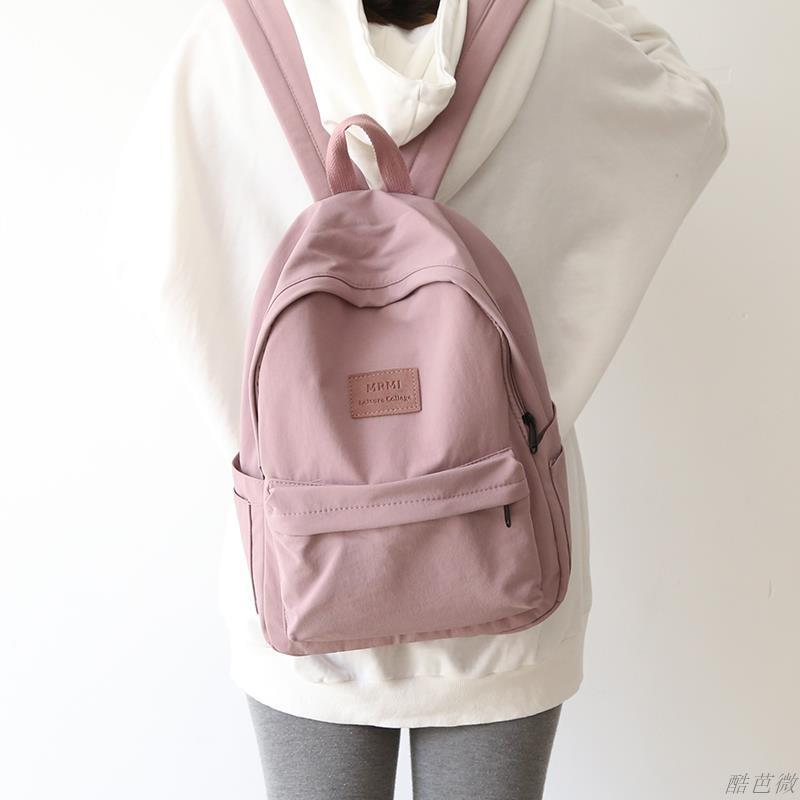 แฟชั่นที่เรียบง่ายและความรู้สึกโบราณกระเป๋าสะพายกระเป๋านักเรียนหญิง ins กระเป๋าหญิงเกาหลีกระเป๋าเป้สะพายหลังโรงเรียนมัธย