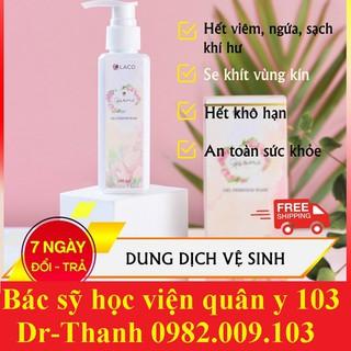 Dung dịch vệ sinh Laco 125ml Chính hãng Ngừa vi khuẩn, nấm ngứa, giúp se khít và làm hồng âm đạo, tốt cho cả bà bầu