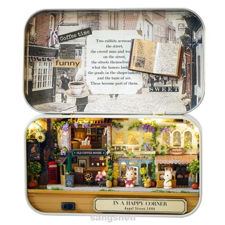 DIY Doll House Theatre Miniature Scene Nostalgic Countryside Furnitures