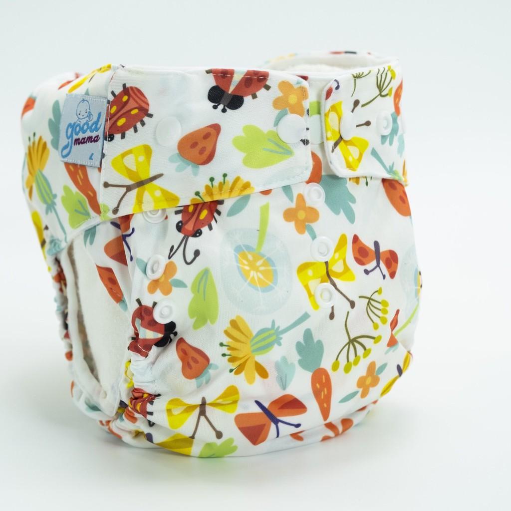 1 bộ bỉm vải Goodmama chống tràn lót xơ tre gồm 1 vỏ và 1 lót.